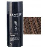 keratine haarvezels 28 gram medium bruin beaver voor haar toppik hair nanogen