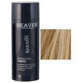 keratine haarvezels 28 gram medium blond beaver grijs haarvezel aanbieding